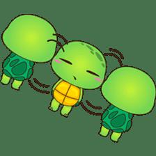 Pura, the funny turtle, version 7 ! sticker #7330721