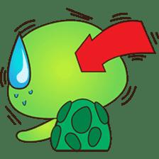 Pura, the funny turtle, version 7 ! sticker #7330739