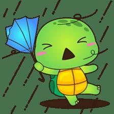 Pura, the funny turtle, version 7 ! sticker #7330740