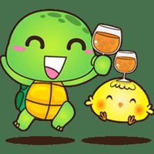 Pura, the funny turtle, version 7 ! sticker #7330745