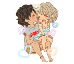 Girls Couple in Love 2 sticker #7333164