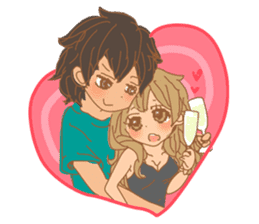Girls Couple in Love 2 sticker #7333167