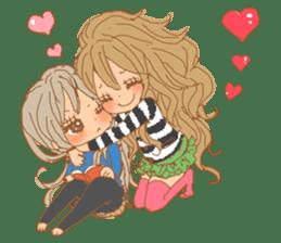 Girls Couple in Love 2 sticker #7333189