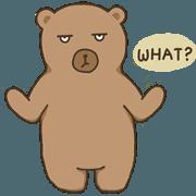 สติ๊กเกอร์ไลน์ มาร์คัส หมีน้ำตาลเจ้าอารมณ์