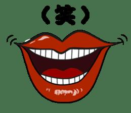 Comic cartoon-style women's lips sticker #7343159