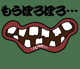 Comic cartoon-style women's lips sticker #7343162