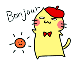 Cats in France! sticker #7343929