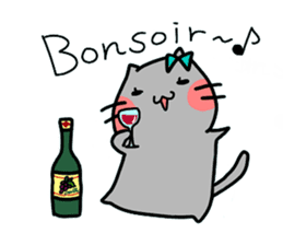 Cats in France! sticker #7343930
