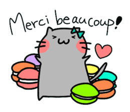 Cats in France! sticker #7343933