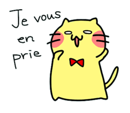 Cats in France! sticker #7343934