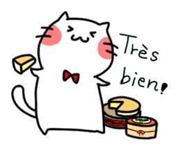 Cats in France! sticker #7343937