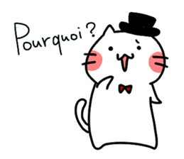Cats in France! sticker #7343942