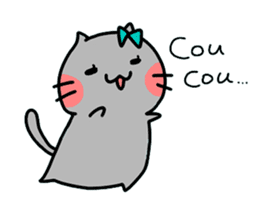 Cats in France! sticker #7343944