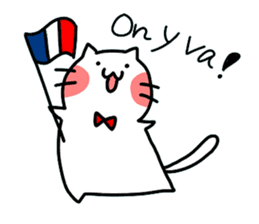Cats in France! sticker #7343948