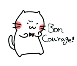 Cats in France! sticker #7343958