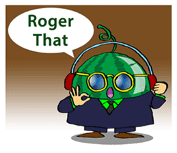 Uncle Watermelon(English) sticker #7358419