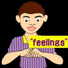 Conversation in English sign language