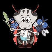 สติ๊กเกอร์ไลน์ BugHum : Ladybug Guardian hunters