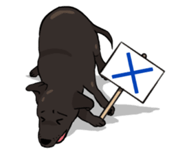Doc the Labrador Retriever sticker #7364445