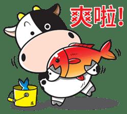 Milk Cow 01 sticker #7369032