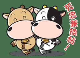 Milk Cow 01 sticker #7369040