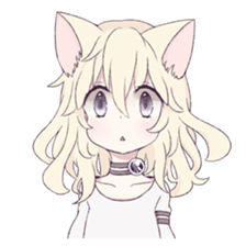 White Cat Girl sticker #7376452