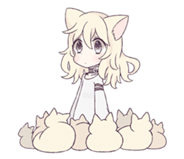 White Cat Girl sticker #7376459