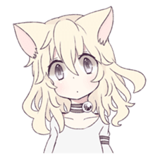 White Cat Girl sticker #7376460