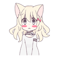 White Cat Girl sticker #7376466