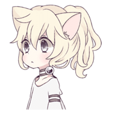 White Cat Girl sticker #7376468