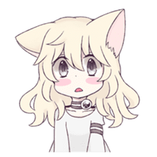 White Cat Girl sticker #7376469
