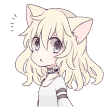 White Cat Girl sticker #7376479