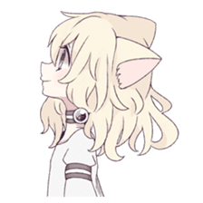 White Cat Girl sticker #7376480