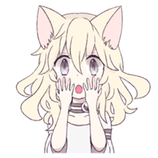 White Cat Girl sticker #7376481