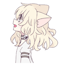 White Cat Girl sticker #7376484