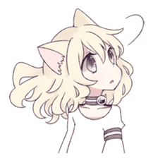 White Cat Girl sticker #7376487