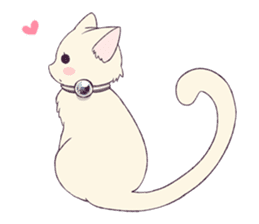 White Cat Girl sticker #7376490