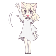White Cat Girl sticker #7376491