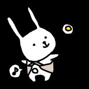 สติ๊กเกอร์ไลน์ A rabbit.