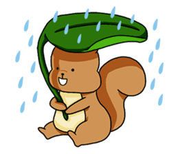 The squirrel daily life sticker #7386234
