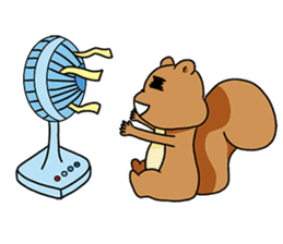 The squirrel daily life sticker #7386236