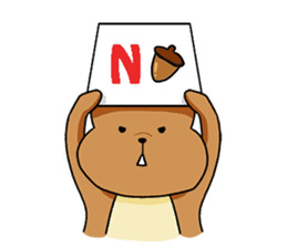 The squirrel daily life sticker #7386242