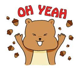 The squirrel daily life sticker #7386243