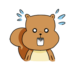 The squirrel daily life sticker #7386244