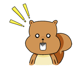The squirrel daily life sticker #7386247