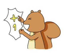 The squirrel daily life sticker #7386249