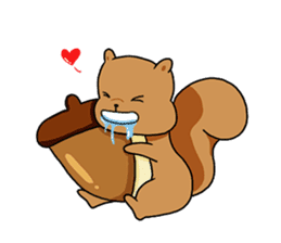 The squirrel daily life sticker #7386251