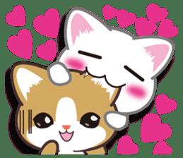 I want to hug a cat cute International sticker #7391012