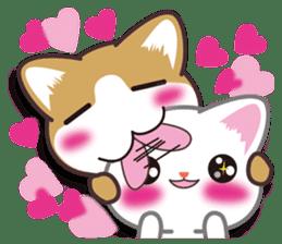 I want to hug a cat cute International sticker #7391017