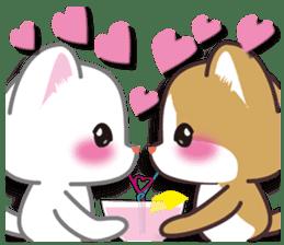 I want to hug a cat cute International sticker #7391022